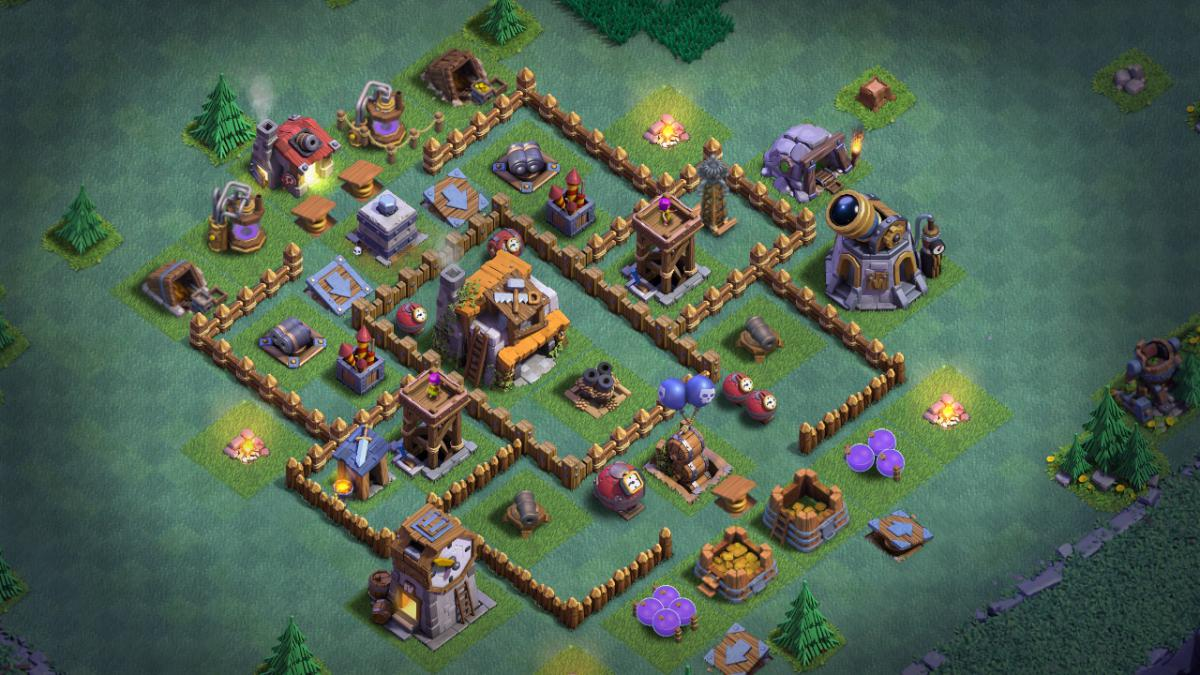 Clash Of Clans Bauarbeiterbasis Meisterhutte Level 5 Bestes Layout