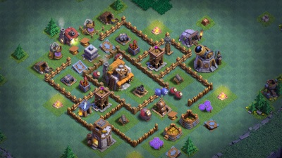 Clash of Clans Bauarbeiterbasis Meisterhütte Level 5