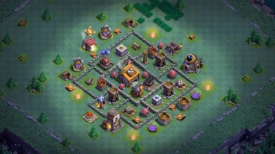 Clash of Clans Bauarbeiterbasis Meisterhütte Level 6