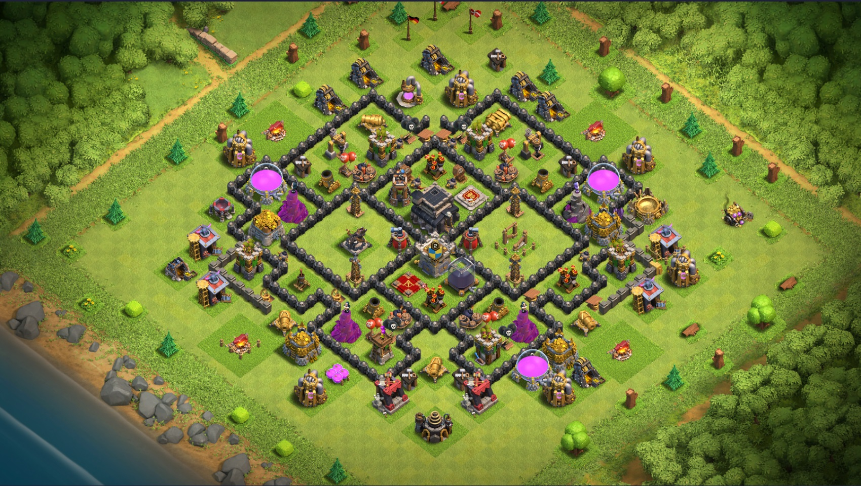Clash Of Clans Heimatdorf Rathaus Level 9 Bestes Layout Lifesteyl