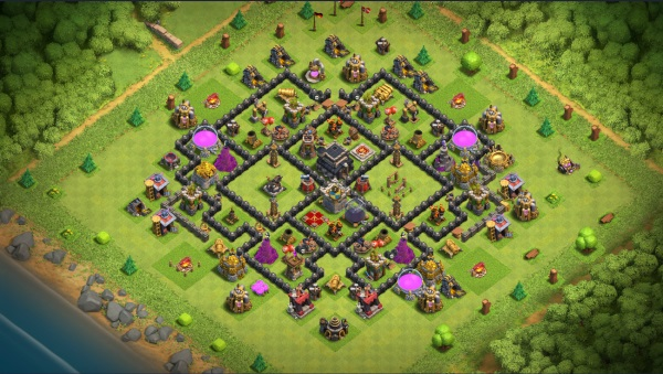 Clash of Clans Rathaus Level 9 bestes Layout