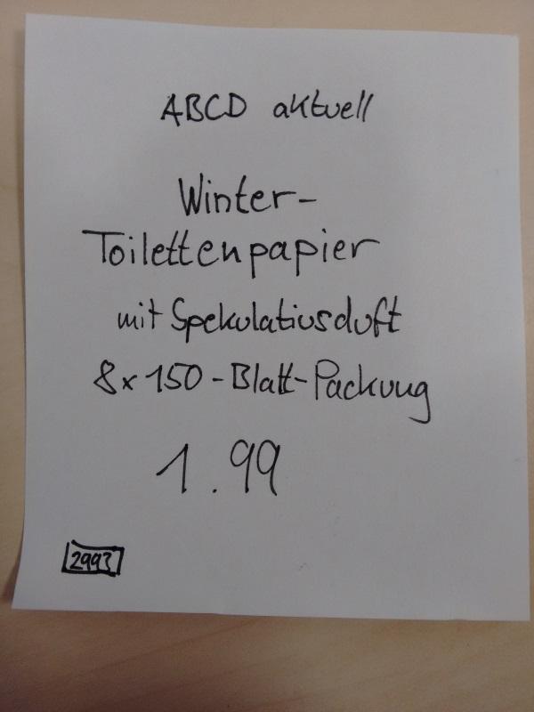 Toilettenpapier Spekulatius
